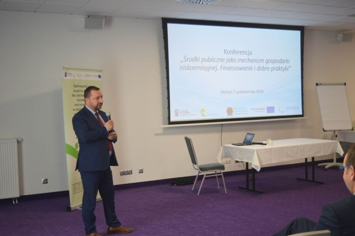 """WOlsztynie odbyła się konferencja """"Środki publiczne jako mechanizm gospodarki niskoemisyjnej"""""""