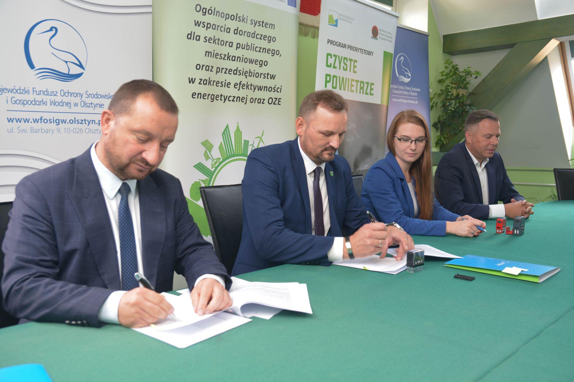 """Gmina Grunwald stworzy punkt konsultacyjno- informacyjny programu """"Czyste Powietrze"""""""